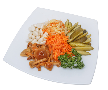 Mix of Pickled vegetables. Standard-Bild