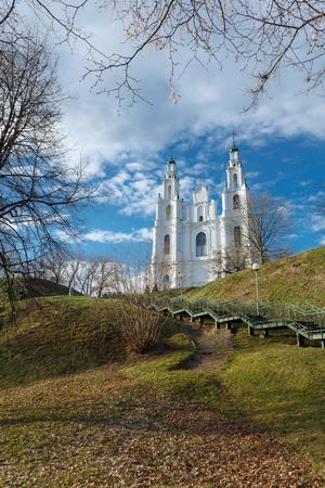 Die Kathedrale der Heiligen Weisheit. Frühling 2017. Polotsk, Witebsk Region. Weißrussland.
