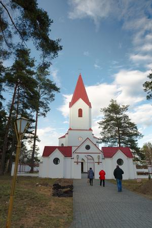 Katholische Kirche des heiligen Herzens Jesu Christi. Navapolatsk, Region Witebsk.