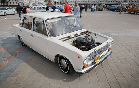 Compact car VAZ 2111 at exibition of vintage cars. Summer. Belarus. Vitebsk. 2017. Editorial