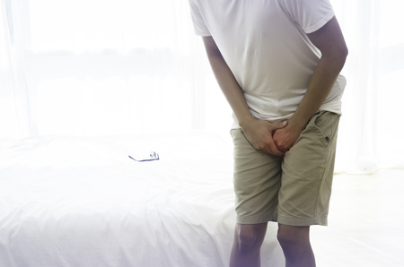 Men in the genital area Itching caused by fungus in the underwear.Itching of the penis caused by dirt.