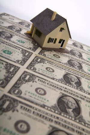 sold small: A house for sale. Stock Photo