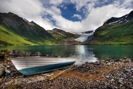 Beautiful landscape of Norway. Stock Photo