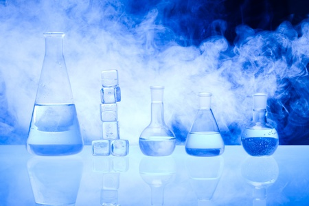 Laboratory glass Stock Photo
