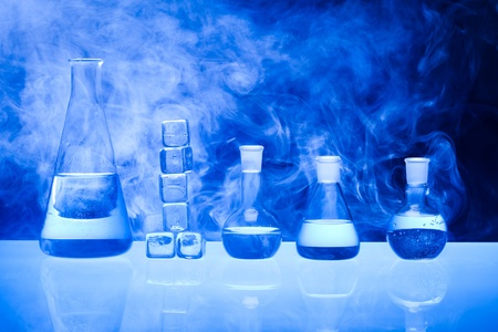 drug discovery: Laboratory glass Stock Photo