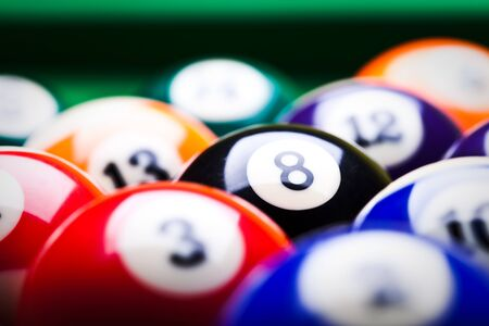 Billiard balls - pool Stock Photo - 8807873