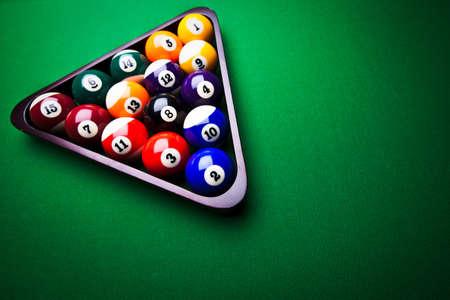 Billiard balls - pool photo