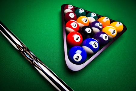 Billiard balls - pool Stock Photo - 8808237