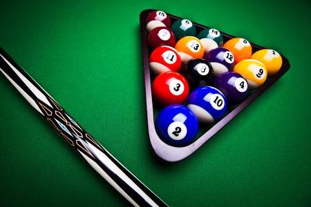 Billiard Balls - pool Standard-Bild