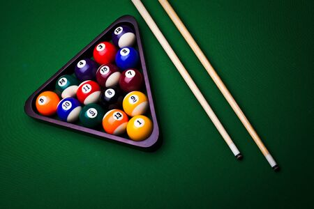 Billiard balls - pool Stock Photo - 8808279