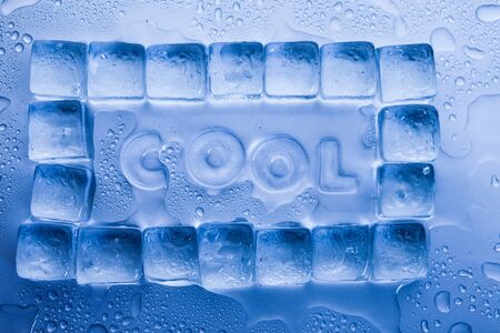 Ice cubes & aqua Stock Photo - 8808556