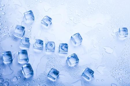 Ice cubes & aqua Stock Photo - 8808357