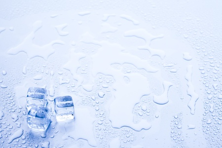 ice cubes: Ice cubes & aqua Stock Photo