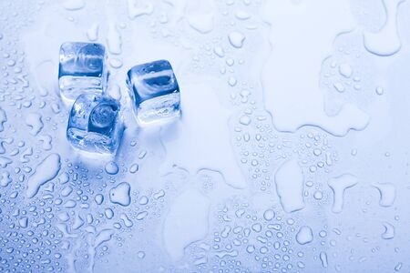 Ice cubes & aqua Stock Photo - 8808382