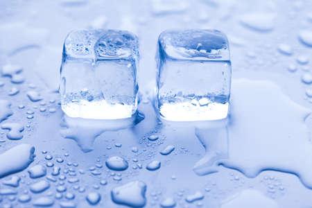 Ice cubes & aqua Stock Photo - 8808351