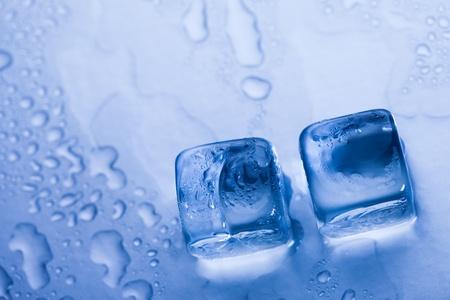 Ice cubes & aqua Stock Photo - 8808365