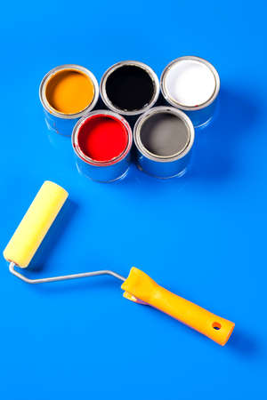 cans of paint photo