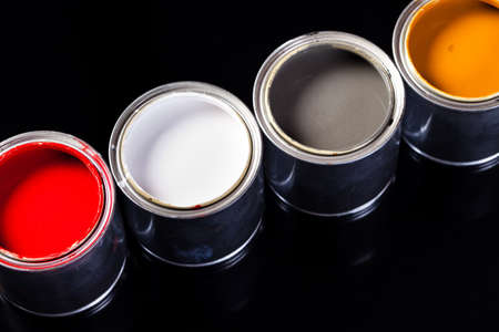cans of paint Stock Photo - 8929465