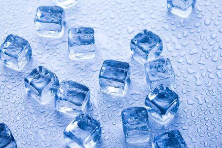 Ice cubes & aqua Stock Photo - 9153948