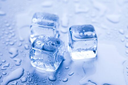Ice cubes & aqua photo