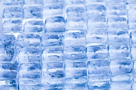 Ice cubes & aqua Stock Photo - 9153775