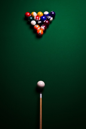 billiards tables: Billiard balls