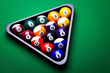 Billiard balls photo