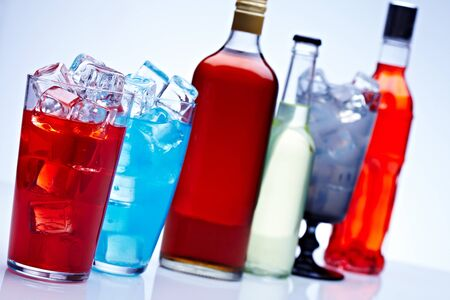 alcohol bottles: Fresh drink