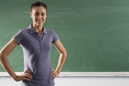 a teacher is standing in front of the board Stock Photo - 10355473