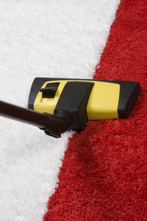 vac: Tube cleaner on the carpet  Stock Photo
