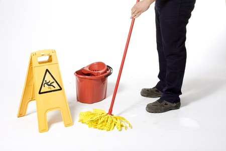 mop the floor: cleaning