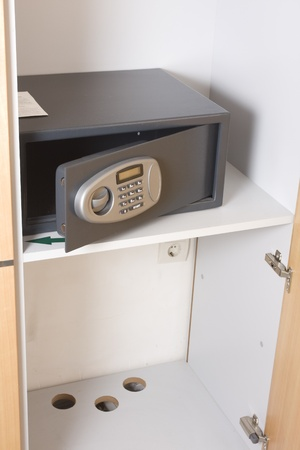 Safe box in a hotel room closet Stock Photo - 12752028