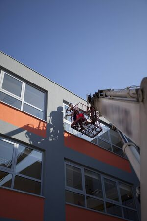 Cleaning of windows  photo