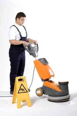 buffing: cleaning machine  Stock Photo
