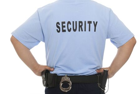 A detail of a security staff member  Stock Photo