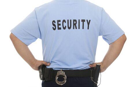 guarda de seguridad: Un detalle de un miembro del personal de seguridad