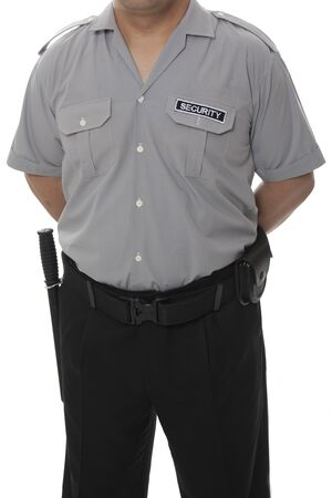 vigilante: A detail of a security staff member  Stock Photo