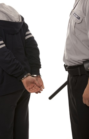 steel handcuffs photo