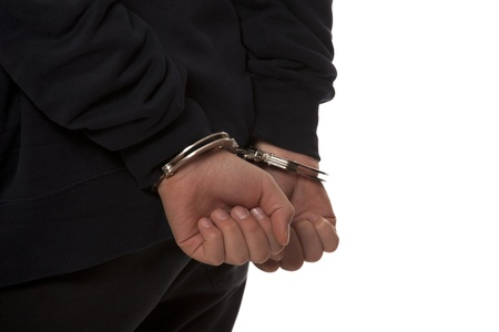 steel handcuffs Stock Photo - 13405084