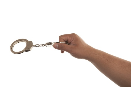 steel handcuffs Stock Photo - 13405082