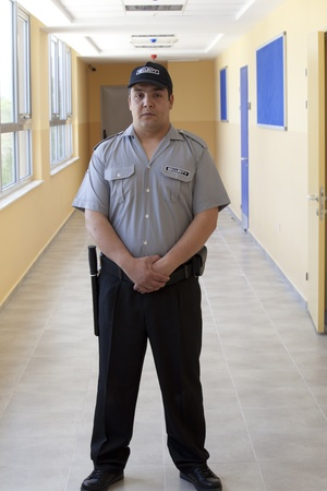 detail of a security staff member Stock Photo - 13405079
