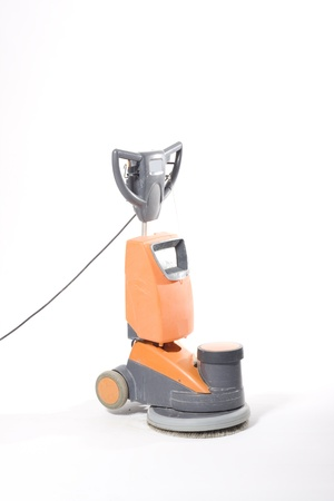 buffing:  cleaning floor with machine