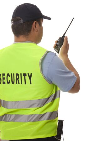 detail of a security guard photo