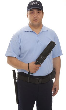 security uniform:  detail of a security staff member Stock Photo