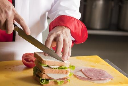 making a sandwich: Making a sandwich