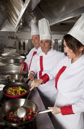 group of young beautiful professional chefs  Stock Photo - 14718611