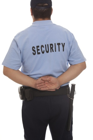security staff: A detail of a security guard Stock Photo