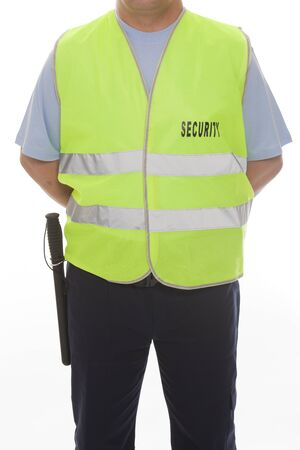 theft prevention: A detail of a security guard Stock Photo