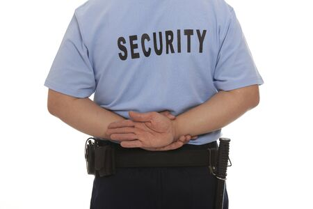 security staff:  detail of a security guard