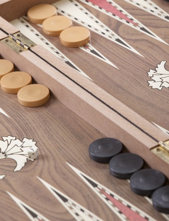 backgammon: Backgammon table Stock Photo